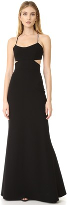 Jill Stuart Jill Women's Long Cut Out Gown