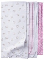 Gerber Baby Girls' 4 Pack Flannel Blanket Set Kitty