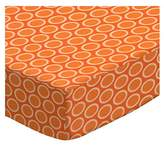 686 SheetWorld Fitted Basket Sheet - Primary Bubbles Orange Woven - Made In USA - 13 inches x 27 inches (33 cm x cm)