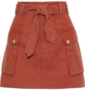 Marissa Webb Belle Belted Cotton Mini Skirt