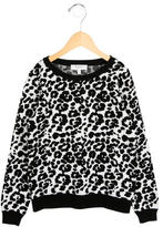Milly Minis Girls' Leopard Patterned Sweater