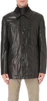 HUGO BOSS Quilted-layer leather jacket