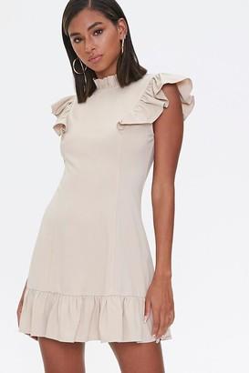 Forever 21 Flounce Bodycon Mini Dress