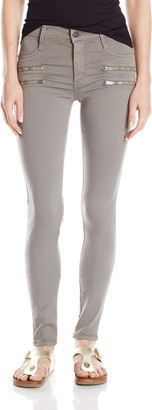 James Jeans Women's Twiggy Crux Double Front Zip Legging Jean in Stonehenge 29