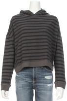 Sundry Crossover Back Grey Stripe Hoodie