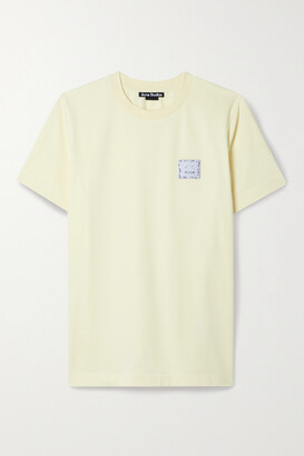 Acne Studios - Appliqued Stretch-cotton Jersey T-shirt - Yellow