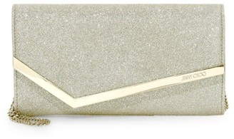 Jimmy Choo Emmie Glitter Leather Clutch