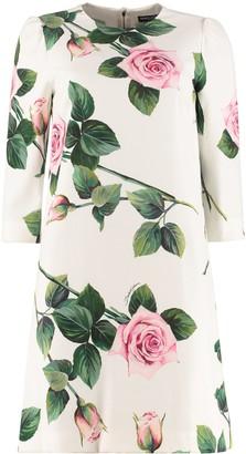 Dolce & Gabbana Floral Crepe Dress