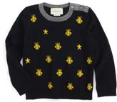 Gucci Infant Boy's Zest Bee & Star Intarsia Wool Sweater