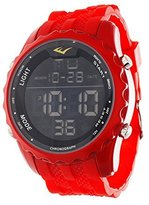 Everlast Jumbo Men's Digital Round Sport LED Watch with Silicone Strap