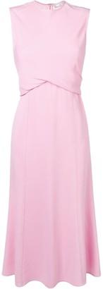 Victoria Beckham sleeveless drape flare mini dress