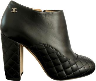 Chanel Black Mongolian Lamb Ankle boots