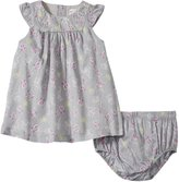 Petit Lem Harmony Dress & Diaper Cover (Baby) - Grey - 18 Months