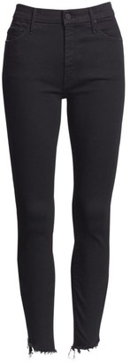 Mother Stunner High-Rise Zip Ankle Jeans