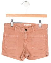 Bonpoint Girls' Denim Pocket Shorts