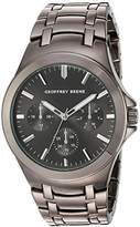 Geoffrey Beene Men's Quartz Metal and Alloy Dress Watch, Color:Black (Model: GB8090GU)