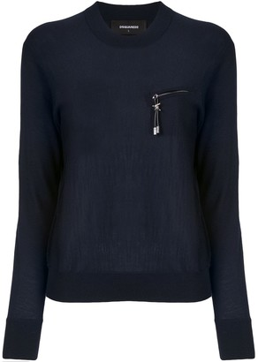 DSQUARED2 Zipped-Pocket Knitted Jumper