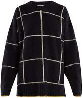Elizabeth and James Fionn windowpane-checked oversized sweater