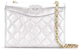 Chanel Pre Owned Metallic Diamond Quilted Shoulder Bag