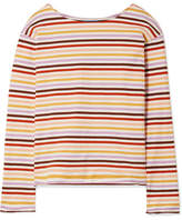 MiH Jeans Striped Cotton-jersey Top - Cream