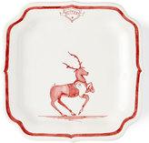 Juliska Country Estate Ruby Reindeer Games Blitzen Party Plate
