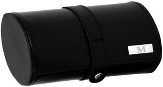 Bey-Berk Black Leather Watch & Cufflink Travel Case