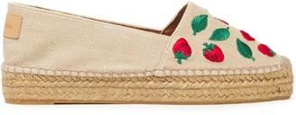 Castaner Embroidered Linen-canvas Platform Espadrilles