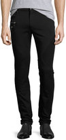 Versace Skinny Moto Denim Jeans, Black