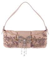 Valentino Embellished Silk Baguette