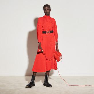 Sandro Jacquard midi dress