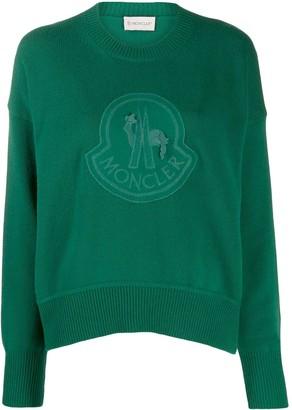 Moncler logo embroidered jumper