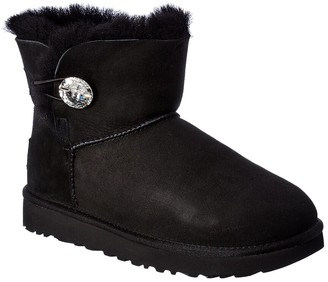 UGG Mini Bailey Button Bling Suede Bootie