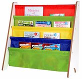 Naomi Home Kids Toy Sling Book Rack, Primary Colors/White