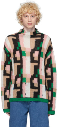 Loewe Multicolor Mohair Graphic Turtleneck