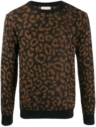 Laneus animal knit jumper