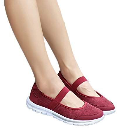 0f5544824d015 Farjing Shoes for Women Fashion Women Casual Sneakers Fitness Shoes Non  Slip Breathable Shoes (,