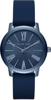 Michael Kors Women's Hartman Blue Silicone Strap Watch 38mm MK2639, A Macy's Exclusive Style