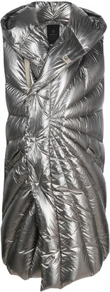 Moncler + Rick Owens Metallic Padded Sleeveless Coat