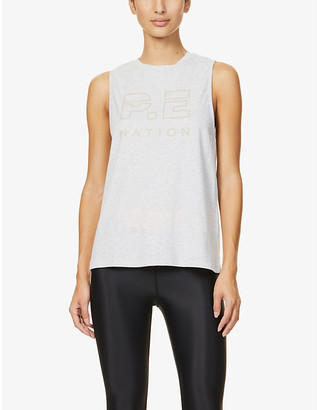 P.E Nation Base Load organic cotton-jersey vest top