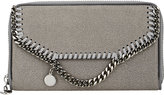 Stella McCartney Women's Falabella Shaggy Deer Zip-Around Wallet-LIGHT GREY