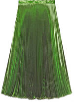 Gucci Iridescent green pleated skirt