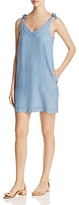 Lilla P Bow Strap Chambray Shift Dress
