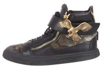 Giuseppe Zanotti Ponyhair High-Top Sneakers