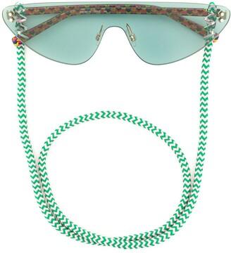 Cat Eye Cat-Eye Cord Sunglasses