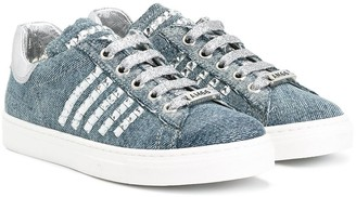 Am66 Denim Studded Sneakers