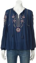 SONOMA Goods for Life Women's SONOMA Goods for LifeTM Embroidered Peasant Top