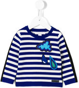 Burberry striped jumper - kids - Cotton/Merino - 9 mth