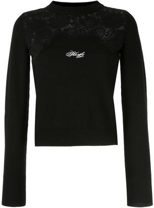Philosophy di Lorenzo Serafini Lace-Panel Sweater