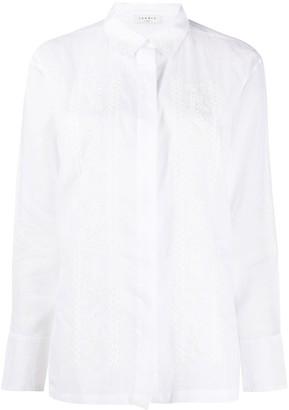 Sandro Paris Aneli embroidered shirt