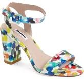 Dune London 'Melrose' Patent Block Heel Sandal (Women)